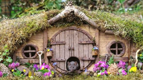 Imaginative Photographer Constructs Entire Hobbit Village for the Mice Who Live in His Backyard Garden