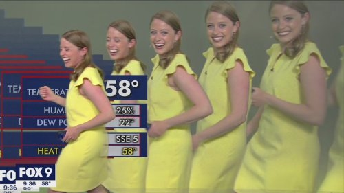 Minneapolis Meteorologist Giddily Parades Across the Screen After Computer Glitch Multiplies Her Image