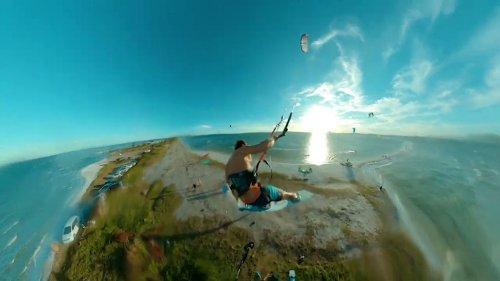 Guinness Record Holding Kite Surfer Makes Astounding Jump Over the Arubinha Peninsula in Brazil