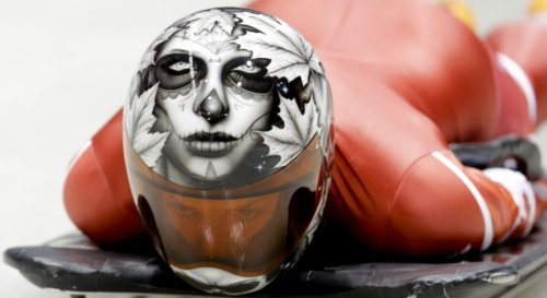 Amazing Helmets Worn by Athletes of the Sliding Sport 'Skeleton' at the 2014 Winter Olympics