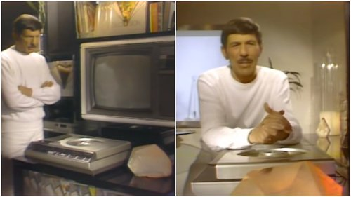 Leonard Nimoy Is Introduced to the Magnavision LaserDisc Player by a Blinking, Bleeping Rock in 1981