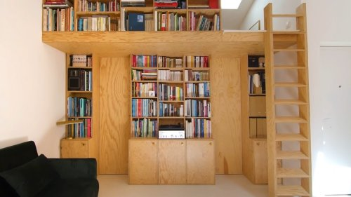 Architect Turns a Tiny 344 Square Foot Paris Apartment into a Comfortable Living Space for Two