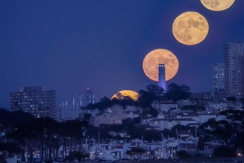 A Stunning Timelapse of the Full Moon Rising Over Coit Tower in San Francisco