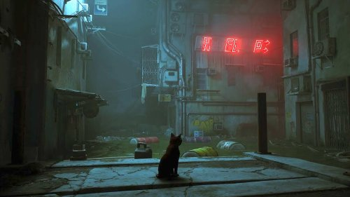 A Walkthrough of 'Stray', A Video Game Where You Play a Cat Wandering Through a Futuristic Cybercity