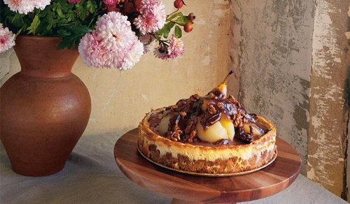 Recette gourmande : le cheesecake poire chocolat