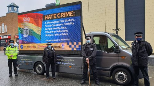 Police apologise over 'being offensive is an offence' billboard