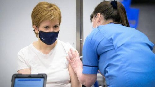 Nicola Sturgeon 'quite emotional' after receiving her first Covid-19 vaccine