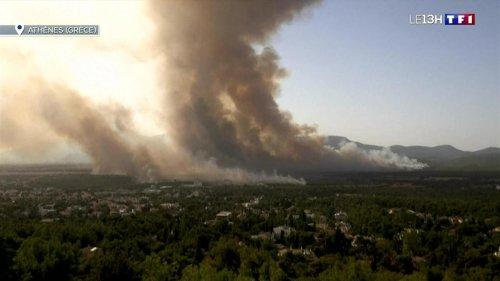 Canicule et incendies en Grèce : les habitants évacués