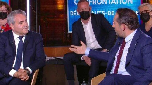 """VIDÉO - """"Je ne laisserai pas passer des mensonges"""" : tensions entre Xavier Bertrand et Sébastien Chenu dans """"La Grande confrontation"""""""