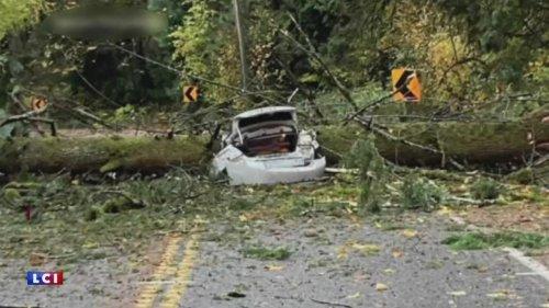 """VIDÉO - Orages, inondations, coulées de boue... la Californie frappée par une """"bombe météorologique"""""""