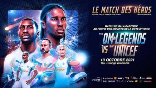 """Drogba, Jul, Parker... Le Vélodrome va vibrer pour le """"Match des Héros"""" au profit de l'Unicef"""