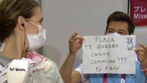 VIDÉO - JO de Tokyo : une escrimeuse argentine demandée en mariage en direct par son coach