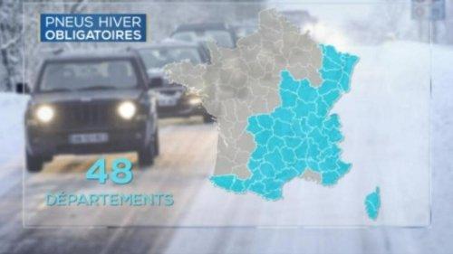 Pneus hiver ou chaînes obligatoires : voici la carte des départements concernés