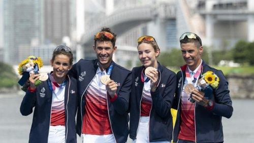 JO de Tokyo : les triathlètes français en bronze, une première dans la discipline