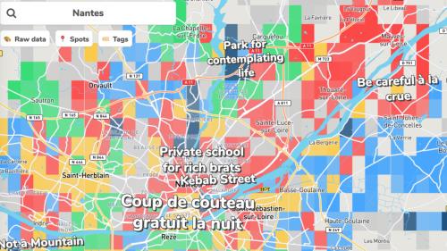 Hoodmaps, la carte interactive drôle et clichée sur les quartiers de Nantes