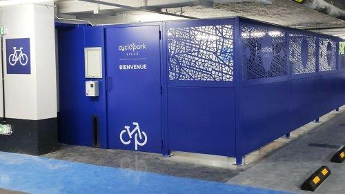 Un cyclopark ultra sécurisé s'est installé dans le centre ville de Lille pour garer vos vélos