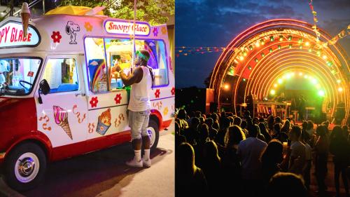 Rap, DJ's, château gonflable, karaoké et barbe à papa dans cette fête foraine près de Paris