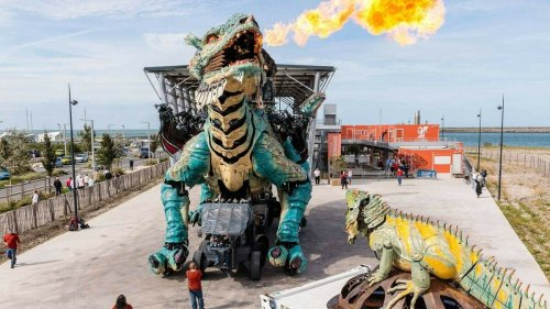 A Calais, découvrez de nouveaux parcours et paysages à bord d'un Dragon cracheur de flammes