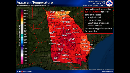 A massive 'heat dome' is settling over the U.S. Here's the forecast for Columbus, Macon