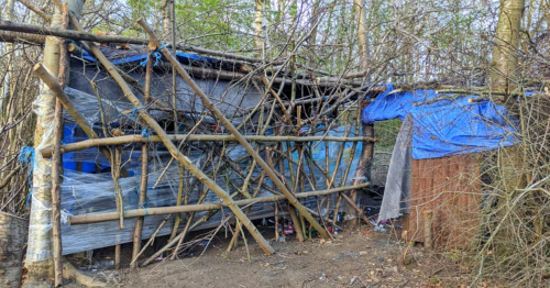 Police ask 'youths' to stop building dens in Leeds woods