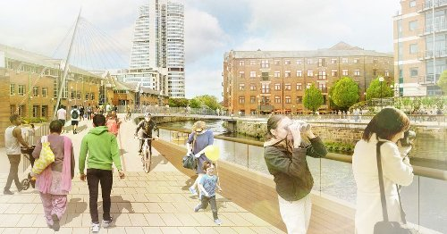 £10m city centre improvements - including a new bridge over the Aire