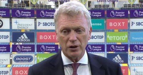 David Moyes raves about 'unique' Leeds United despite West Ham result