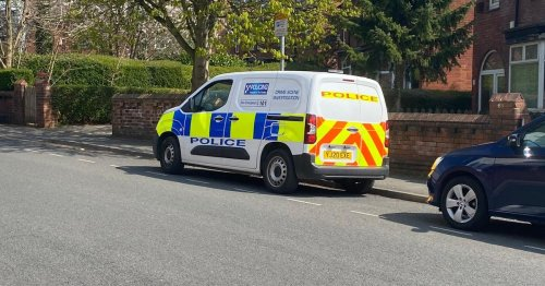 Police tape off house in Headingley Leeds as man attacked
