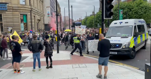 Police officer assaulted during Leeds 'Freedom Protest' in city centre
