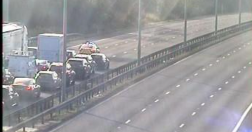 M1 closed in both directions due to police incident