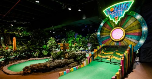 A mini golf jungle in Leicester - it's a tropical treat for all the family