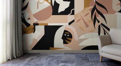 L'art abstrait s'invite sur les murs avec ces papiers peints design