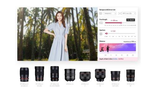 Samyang dévoile son simulateur de focale en ligne