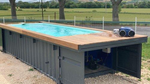 Une start-up toulousaine crée des piscines dans des conteneurs