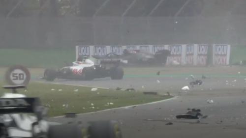 Formule 1: gros accident et drapeau rouge au GP d'Emilie-Romagne