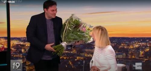RTBF: séquence émotion pour le départ de Julie Morelle du JT (vidéo)