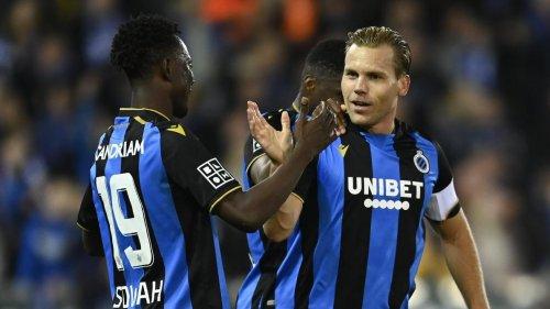 Le FC Bruges s'impose contre Courtrai et reprend la tête du championnat (2-0)