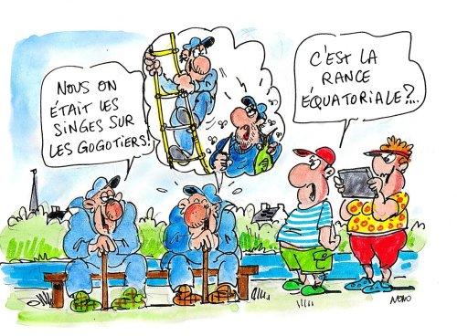 Les tribus bretonnes : Singes et Gogotiers sur les bords de Rance