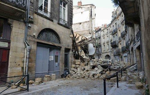 À Bordeaux, trois blessés dans l'effondrement de deux immeubles