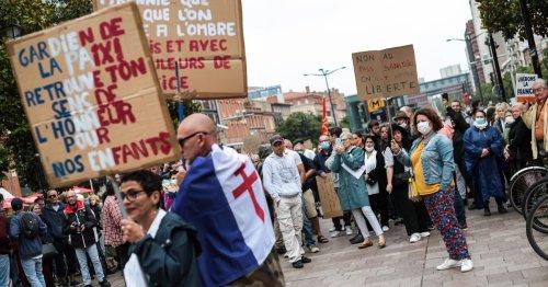 Manif anti-pass sanitaire à Toulouse : «Je me suis retrouvé à défiler aux côtés de cathos intégristes, ça fait bizarre»