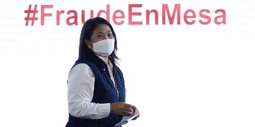 Keiko Fujimori sigue defendiendo el pucherazo en las elecciones de Perú y anuncia movilizaciones