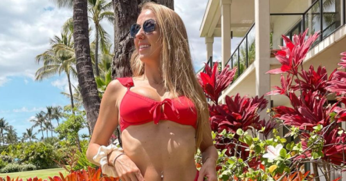 Brittany Matthews Wows in Red Bikini 3 Months After Giving Birth