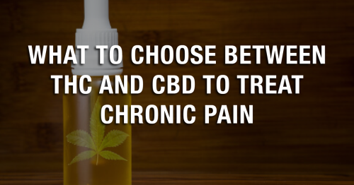 What To Choose Between THC And CBD To Treat Chronic Pain
