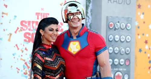 John Cena and Wife Shay Pack on the PDA at 'The Suicide Squad' Premiere