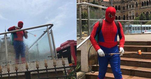 Spiderman Got New Super Power, Caught Sanitizing Mumbai's Public Spaces