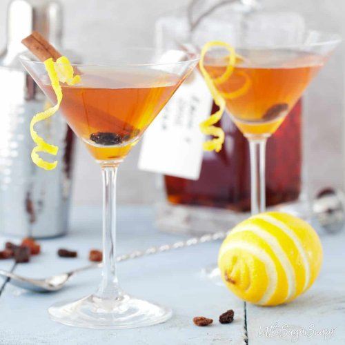 Easter Martini with Hot Cross Bun infused vodka