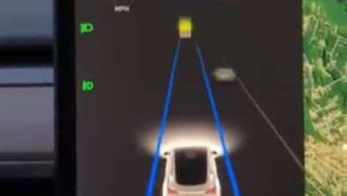 A Tesla car mysteriously slows down mid-road for no good reason but one