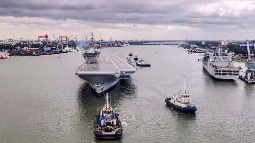 India's first indigenous aircraft carrier begins sea trials off Kochi