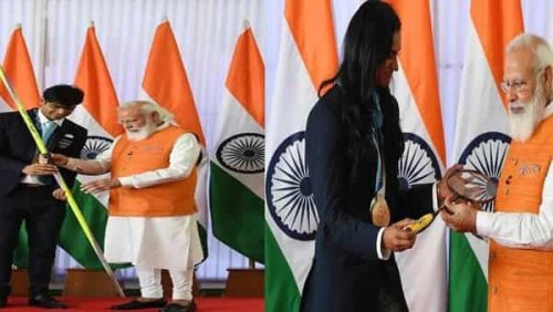 Neeraj Chopra's javelin, Sindhu's racket: Auction of gifts received by PM starts