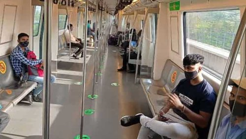 Watch: Monkey takes ride in Delhi Metro. Video goes viral