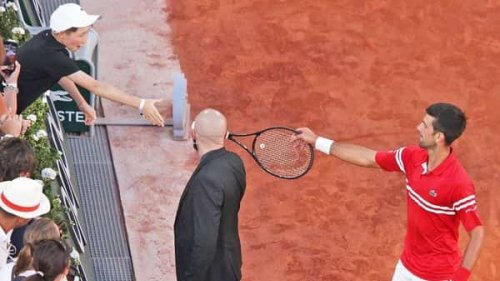Indian billionaire praises Djokovic's reason on why he gave racquet to young fan
